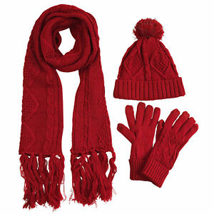 hat scarf gloves